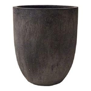 その他 軽量コンクリート製 植木鉢/プランター 【ブラックウォシュ 直径43cm】 底穴あり 『フォリオ アルトエッグ』 ds-1705283
