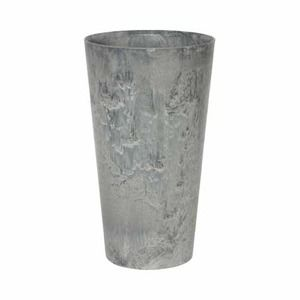 その他 底面給水型 植木鉢/プランター 【トールラウンド型 グレー 直径37×高さ70cm】 底栓付 『アートストーン』 〔園芸用品〕 ds-1630691