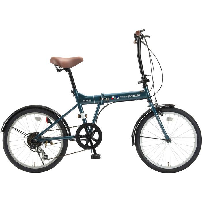 マイパラス 折畳自転車20インチ・6段ギア 折畳20・6SP (オーシャン) M-208-OC【納期目安:01/中旬入荷予定】