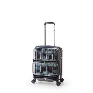 その他 スーツケース 【ネイビーカモフラージュ】 36L 機内持ち込み可 ダブルフロントオープン アジア・ラゲージ 『PANTHEON』 ds-1950533