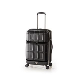 その他 スーツケース 【マットブラック】 拡張式(54L+8L) ダブルフロントオープン アジア・ラゲージ 『PANTHEON』 ds-1950535