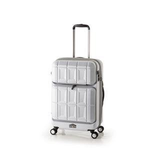 その他 スーツケース 【マットブラッシュホワイト】 拡張式(54L+8L) ダブルフロントオープン アジア・ラゲージ 『PANTHEON』 ds-1950540