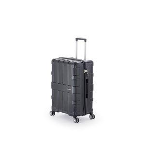 その他 ファスナー式スーツケース/キャリーバッグ 【オールブラック】 60L 軽量 アジア・ラゲージ 『MAX BOX』 ds-1950596