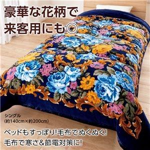 その他 ボリュームたっぷり軽くて暖かい5層構造毛布セット 【ダブル 2色組 ワイン・ブルー】 厚手 洗える ds-1954957
