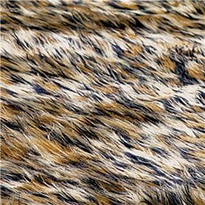 その他 ふんわりボリューム!防炎シャギーラグマット/絨毯 【ヒョウ 約130cm×190cm】 長方形 日本製 折りたたみ ds-1955293