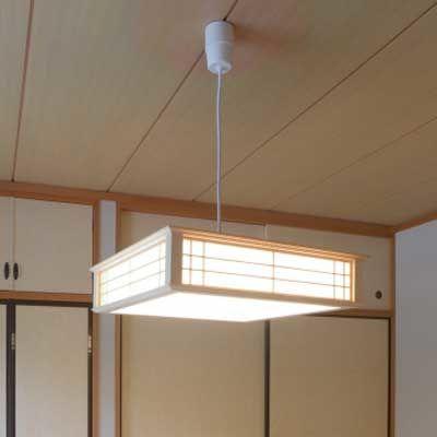 オーム電機 天然木使用LED和風ペンダント 6畳用昼光色 LT-W30D6K-K