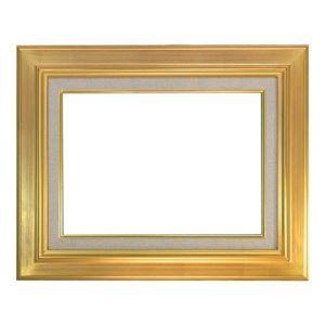 その他 油絵額縁/油彩額縁 【F12 ゴールド】 表面カバー:アクリル 金箔仕上げ 吊金具付き 木製 ds-1983355
