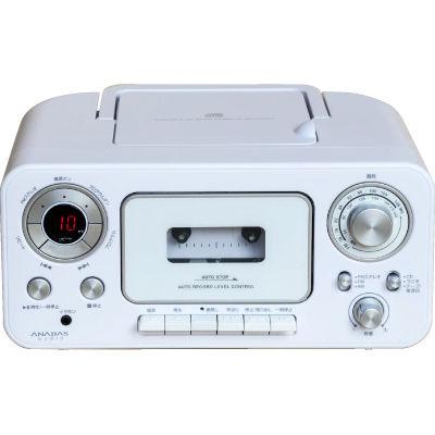 ANABAS インテリアにピッタリなCDラジカセ(ホワイト) CD-C300-W【納期目安:1週間】