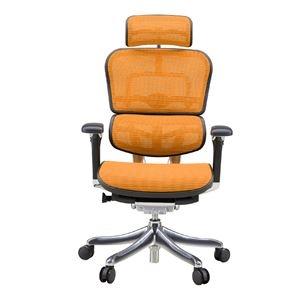 その他 オフィスチェア アームレスト付き ランバーサポート付き ハイタイプ オレンジ【代引不可】 ds-1984365