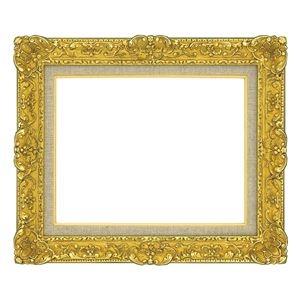 その他 油絵額縁/油彩額縁 【F3 ゴールド】 総柄彫り 黄袋 吊金具付き ds-1986133