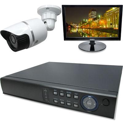 ブロードウォッチ 屋外型赤外線100万画素カメラ1台16インチモニタ付録画機セット SEC-MS-1A-C36V-16R