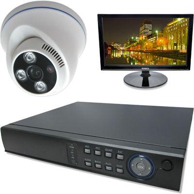 ブロードウォッチ 屋内天井型赤外線500万画素カメラ1台16インチモニタ付録画機セット SEC-MS-1A-F36G-16R