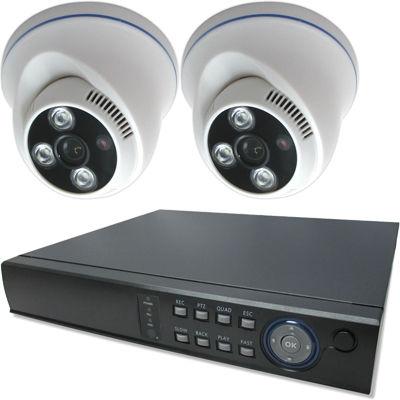 ブロードウォッチ 屋内天井型赤外線130万画素カメラ2台録画機セット SEC-MS-2A-F36M