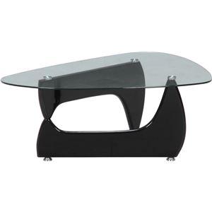 その他 ガラス製センターテーブル/ローテーブル 【ブラック】 幅100cm 強化ガラス製天板 『ルーク』【代引不可】 ds-1951420