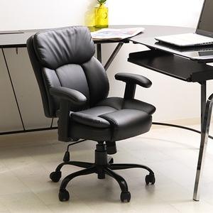 その他 オフィスチェア/プレジデントチェア 【ブラック】 幅60cm ハイバック 肘掛け キャスター付き 張地:合成皮革 『マンチェスター』【代引不可】 ds-1951609