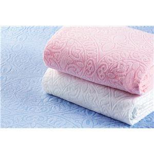 その他 ジャカード織 タオルシーツ/ベッドシーツ 【3色組 ブルー・ピンク・ホワイト】 シングルサイズ 洗える 綿100% 日本製 今治産 ds-1997757
