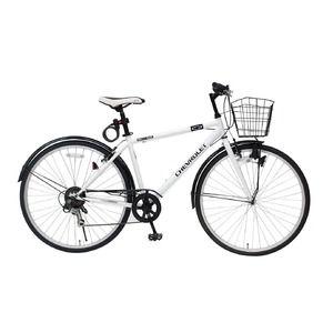その他 シボレー製 クロスバイク 【ホワイト】 6段ギア 700C スチール 『CHEVROLET』 〔ショッピング 通勤 通学〕【代引不可】 ds-1998693