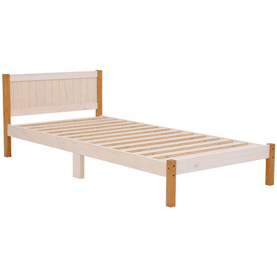 HAGIHARA(ハギハラ) ベッド(ホワイトウォッシュ/ライトブラウン) MB-5102S-WLB 2101782200