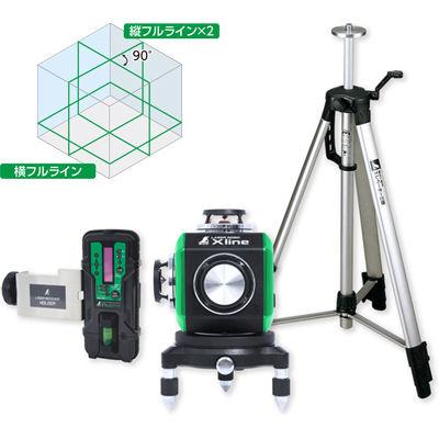 シンワ測定 レーザーロボXlineグリーン受光器・三脚付 71618