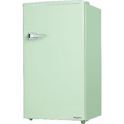 エスキュービズム 85L 1ドア レトロ 冷蔵庫 (ライトグリーン) WRD-1085G