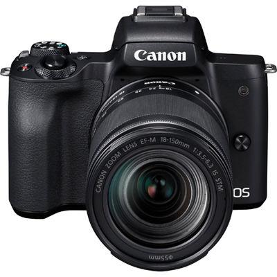 キヤノン ミラーレスカメラ EOS Kiss M・EF-M18-150 IS STM レンズキット(ブラック) EOSKISSMBK-18150ISSTM【納期目安:3週間】