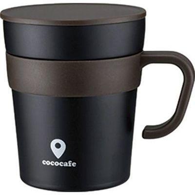 送料無料 カクセー CC-15 買収 cococafe ココカフェ 真空二重 取手付きマグカップ 4972940312412 ブラック 250ml 毎日激安特売で 営業中です