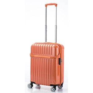 その他 トップオープン スーツケース/キャリーバッグ 【オレンジカーボン】機内持ち込みサイズ 33L 『アクタス トップス』 ds-2024932
