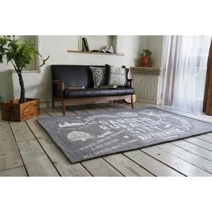 その他 ゴブランシェニール ラグマット/絨毯 【190cm×190cm グレー】 正方形 洗える スミノエ 『ルーラル』 〔リビング〕 ds-2036062