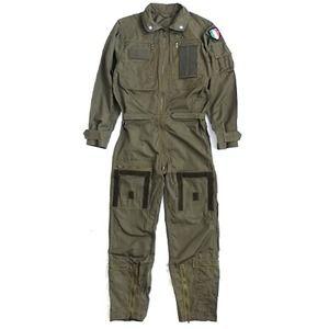 その他 イタリア軍放出ノメックス(難燃性)フライトカバーオール未使用デットストック《48(M相当)》 ds-2036101