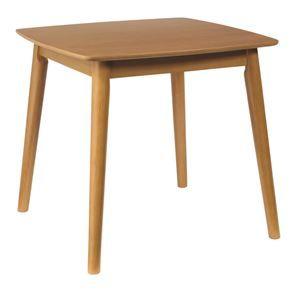 その他 ダイニングテーブル/リビングテーブル 【正方形】 木製/アッシュ材突板 幅75cm 木目調 北欧風  ナチュラル ds-1748536