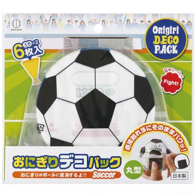 その他 【300個セット】おにぎりデコパック丸型6枚入(サッカーボール) 2213650