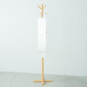 その他 【4枚セット】フックミラー(100) (ホワイト/白) 幅20cm×高さ100cm ウォールミラー/壁掛け/鏡/飛散防止加工/日本製/省スペース/スリム/業務用/完成品/NK-1000 ds-2037942
