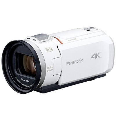 パナソニック デジタル4Kビデオカメラ 総画素数約857万画素(ホワイト) HC-VZX1M-W【納期目安:追って連絡】