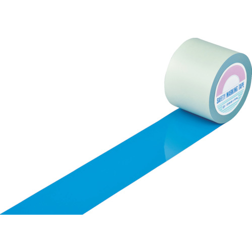 トラスコ中山 緑十字 ガードテープ(ラインテープ) 青 100mm幅×100m 屋内用 148136