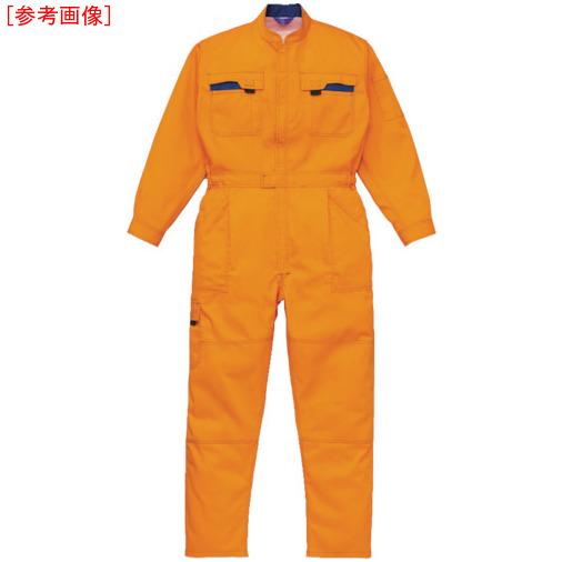 トラスコ中山 AUTO-BI スリードラゴン ツナギ服 5Lサイズ オレンジ 40000OR5L