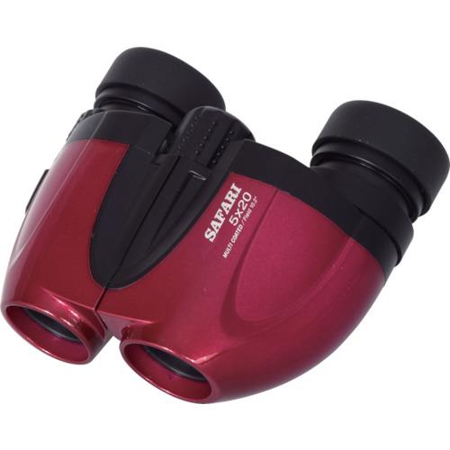トラスコ中山 SIGHTRON コンパクト広視野5倍双眼鏡 SAFARI5×20赤 5X20赤