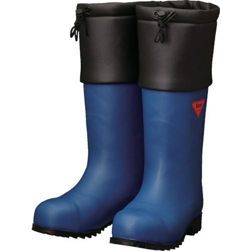 トラスコ中山 SHIBATA 防寒安全長靴 セーフティベアー#1001白熊(ネイビー) AC05122.0