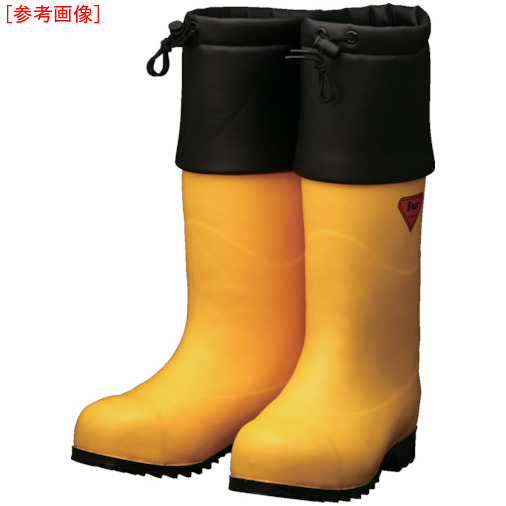トラスコ中山 SHIBATA 防寒安全長靴 セーフティベアー#1001白熊(イエロー) AC09123.0