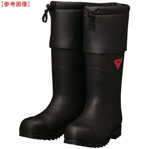 トラスコ中山 SHIBATA 防寒安全長靴 セーフティベアー#1001白熊(ブラック) AC11123.0