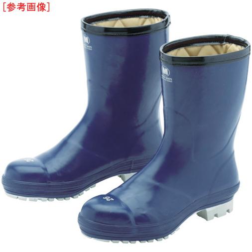 トラスコ中山 ミドリ安全 氷上で滑りにくい防寒安全長靴 FBH01 ネイビー 24.0cm FBH01NV24.0