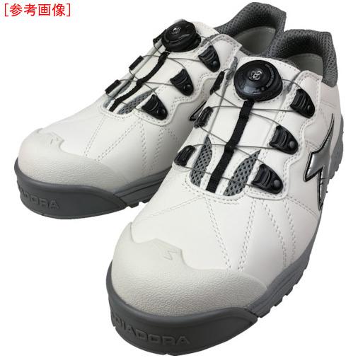 トラスコ中山 ディアドラ DIADORA安全作業靴 フィンチ 白/銀/白 26.0cm FC181260