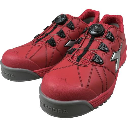 トラスコ中山 ディアドラ DIADORA安全作業靴 フィンチ 赤/銀/赤 24.5cm FC383245