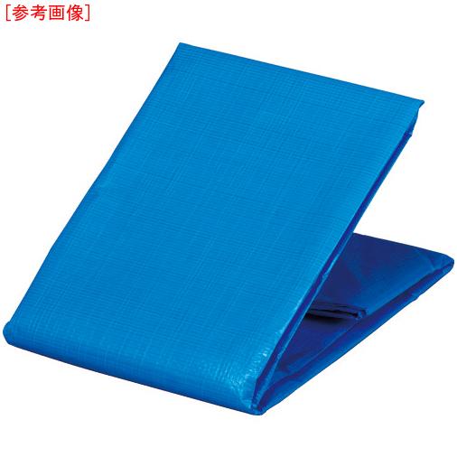 トラスコ中山 TRUSCO 防炎シートα軽量 ブルー 幅5.4mX長さ5.4m GBS5454AB