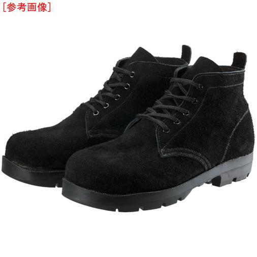 トラスコ中山 シモン 耐熱安全編上靴HI22黒床耐熱 25.5cm HI22BKT255