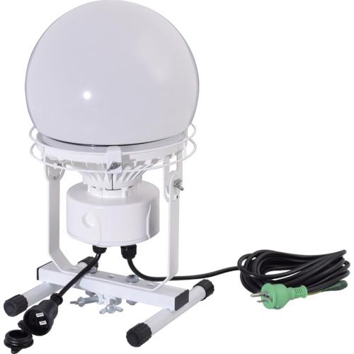 トラスコ中山 日動 連結LED投光器 ディスクボール100W 床スタンド式 昼白色 L100WAB50K