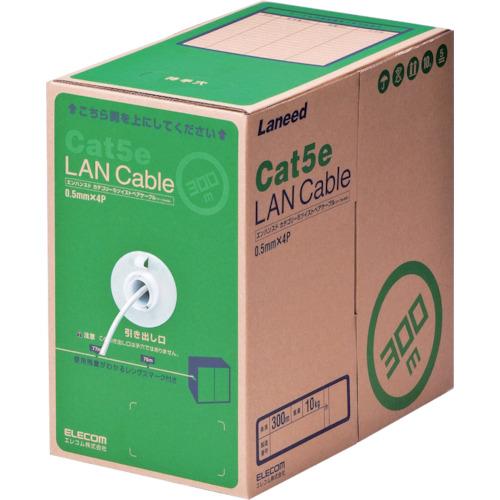 トラスコ中山 エレコム EU RoHS指令準拠LANケーブル CAT5E 300m ホワイト LDCT2WH300RS