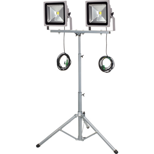 トラスコ中山 日動 LED作業灯 50W 二灯式三脚 LPRS50LW3ME