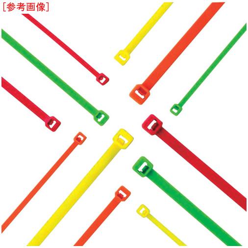 トラスコ中山 パンドウイット ナイロン結束バンド 蛍光オレンジ (1000本入) PLT2IM53