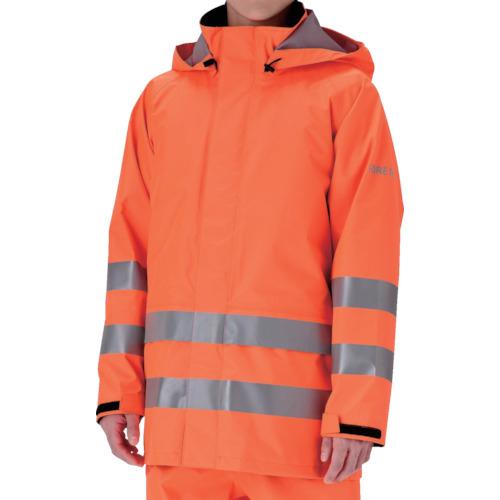 トラスコ中山 ミドリ安全 雨衣 レインベルデN 高視認仕様 上衣 蛍光オレンジ M RAINVERDENUEORM