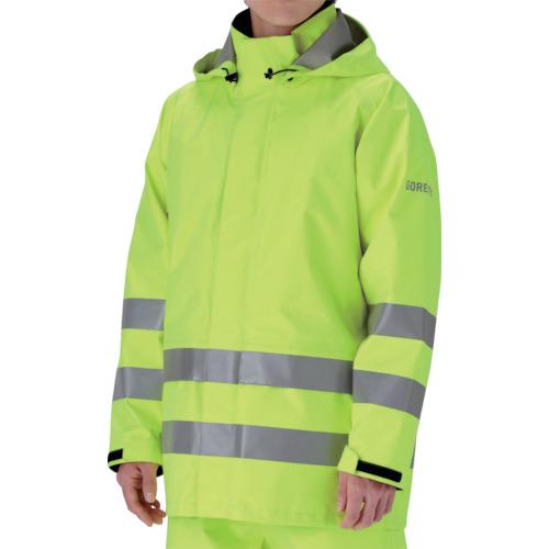 トラスコ中山 ミドリ安全 雨衣 レインベルデN 高視認仕様 上衣 蛍光イエロー M RAINVERDENUEYM